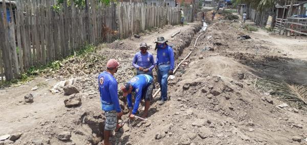 SAAE, em parceria com a Prefeitura, expande rede de água na ocupação do Castanhal