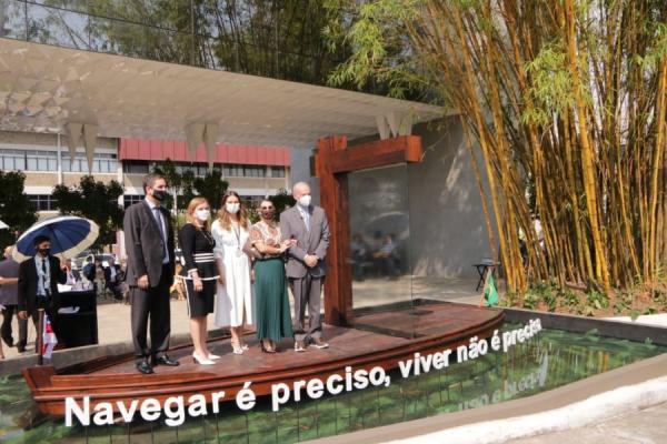 TCE-AM ergue monumento em homenagem às vítimas da Covid e profissionais de saúde
