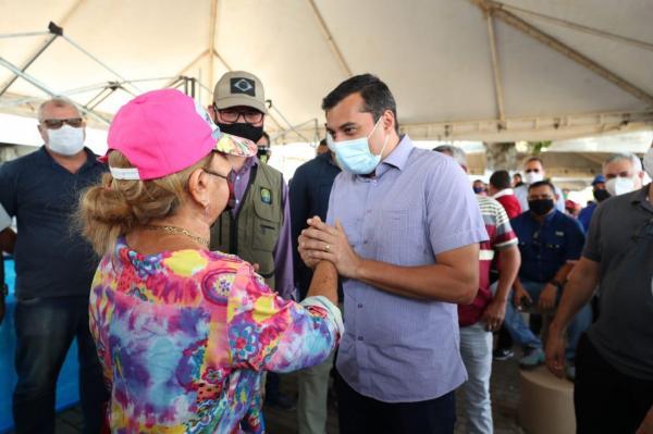 Em Tefé, Wilson Lima e secretário nacional de Aquicultura e Pesca visitam Feira do Pirarucu de Manejo