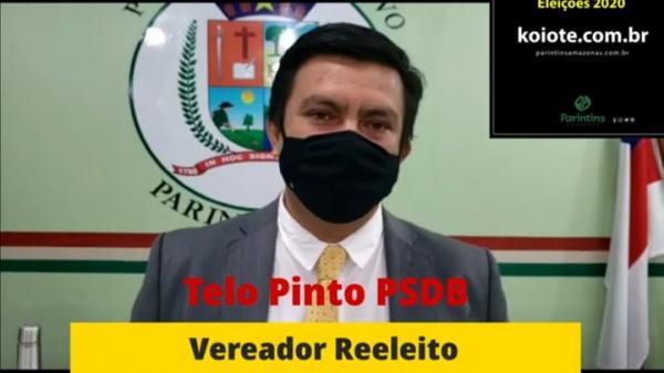 Telo Pinto reeleito vereador 2020, quase dobra votação de 2016