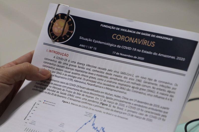 Novo Boletim Epidemiológico Ampliado de Covid-19 da FVS destaca estabilidade da doença no Amazonas em patamares elevados
