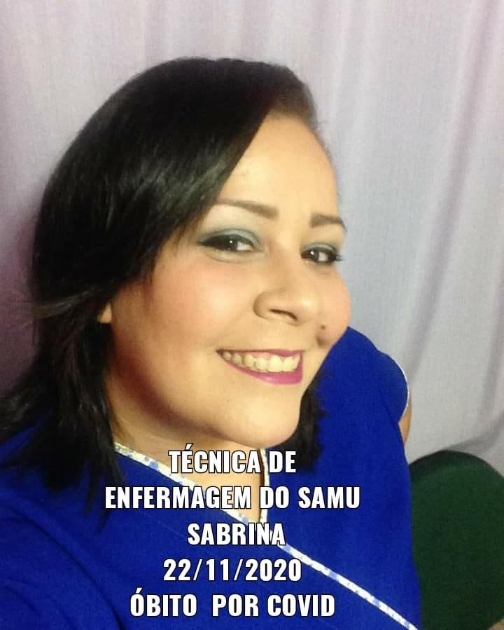 Sabrina de Souza Melo do SAMU Manaus morre de Coronavírus