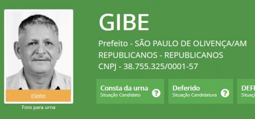 Juiz cassa o prefeito eleito Gibe de São Paulo  de Olivença, no Amazonas