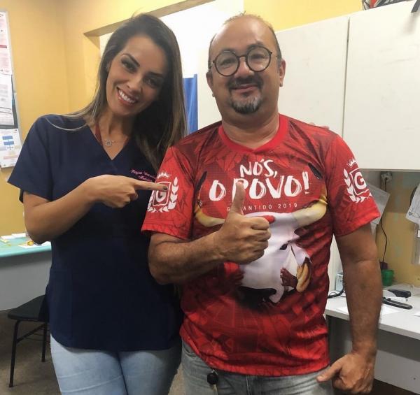 Médico Amintas Junior foi infectado pelo Coronavírus e está internado no Jofre Cohen