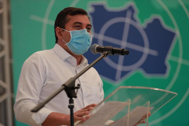 Em solenidade com Ministro da Saúde, Wilson Lima reforça união dos três poderes para o enfrentamento da Covid-19 no estado