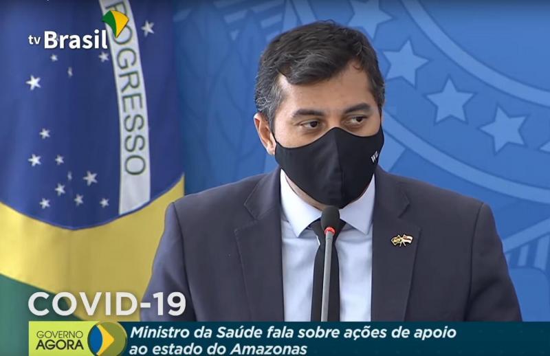 Em reunião com o presidente Jair Bolsonaro,  Wilson Lima explica ações do Estado para ampliação de leitos