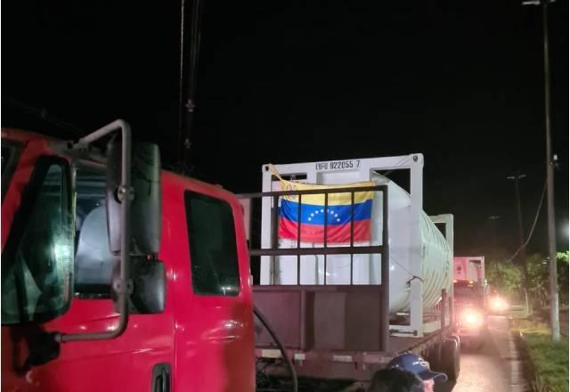 Oxigênio doado pela Venezuela chegou ao Amazonas