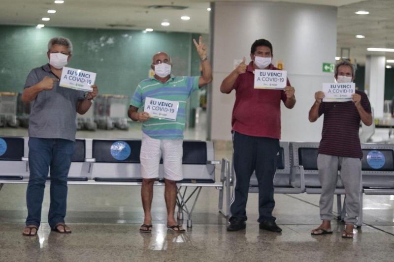 Alegria do retorno ao Amazonas se torna realidade para mais seis recuperados da Covid-19