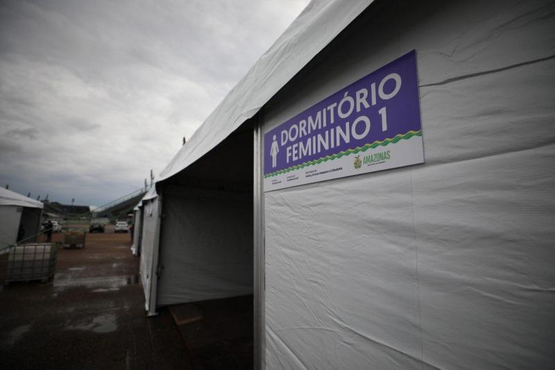 Governo do Amazonas inaugura abrigo emergencial para proteger população em situação de rua da Covid-19