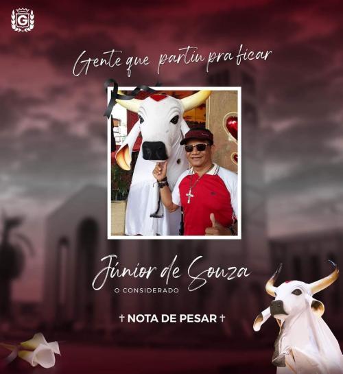 Garantido chora a morte do artista Júnior de Souza