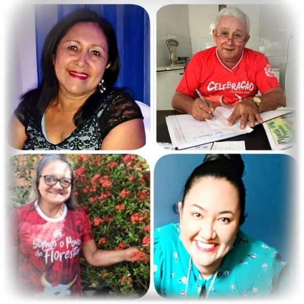 Professora Nelice, tio Bal, professora Adalgiza e Mariana Hatta recebam doce acolhida no Céu