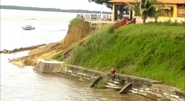 Deslizamento da construção do Muro de Arrimo de Parintins será investigado, diz prefeito em exercício