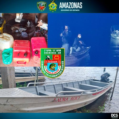 Polícia Militar detém dois homens por furto, no município de Nhamundá