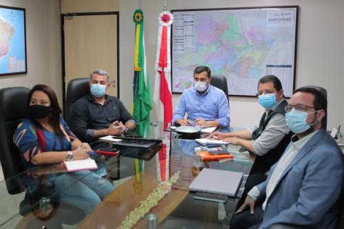 Wilson Lima se reúne com representantes da empresa fornecedora de oxigênio ao Estado