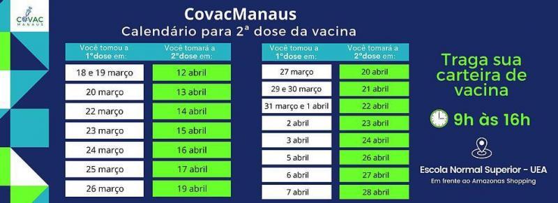 Pesquisa CovacManaus atende até hoje (08/04) servidores interessados em participar de vacinação contra a Covid-19