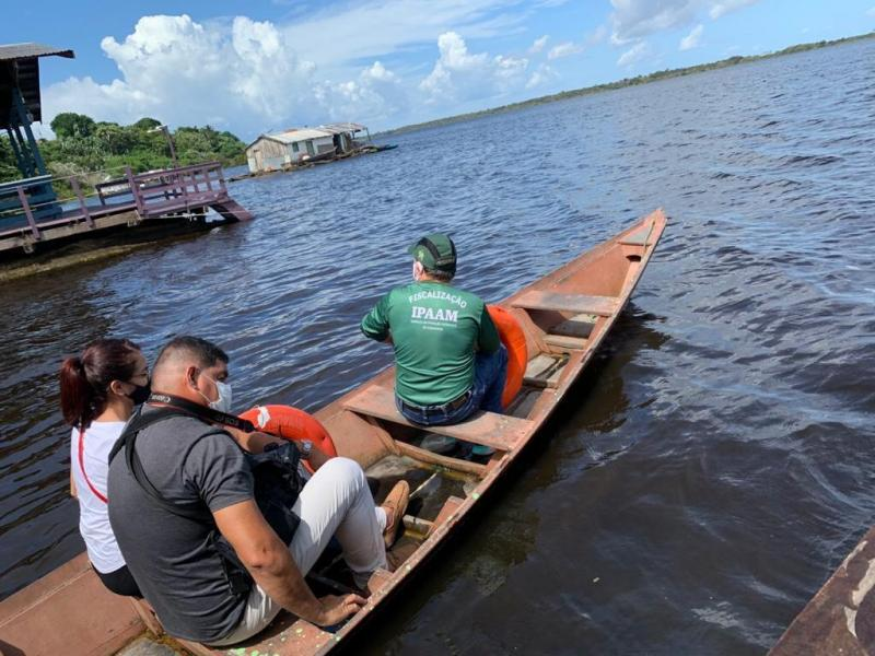 Fiscalização: Ipaam constata despejo irregular no Lago da Colônia e multa fábrica em R$ 330 mil