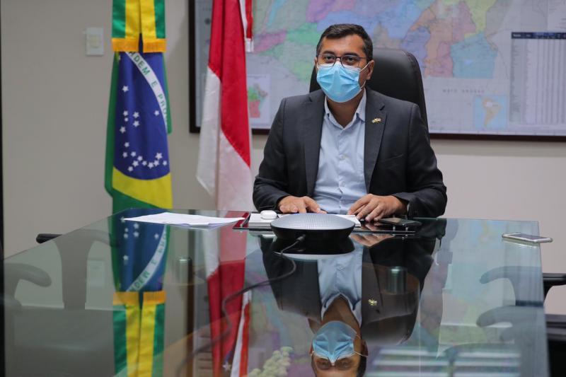 Em reunião com enviado do Reino Unido para COP26, Wilson Lima reafirma compromisso com defesa do meio ambiente
