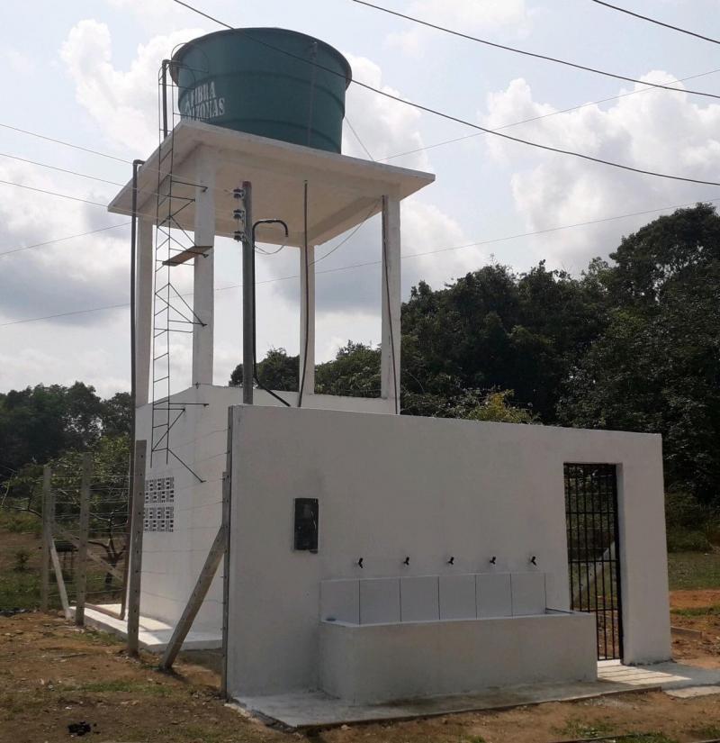 Obras do novo sistema de abastecimento de água em Beruri alcançam o percentual de 68% de execução