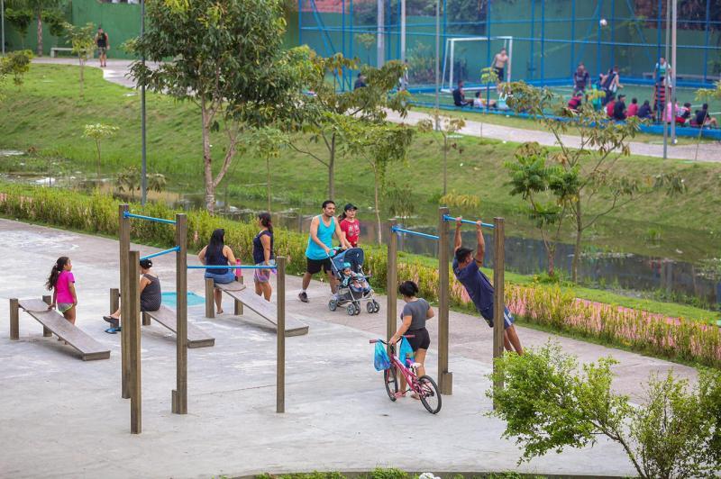 Reforma dos Parques Urbanos do Prosamim beneficia população da zona sul de Manaus