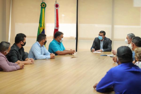 Governador Wilson Lima recebe prefeitos para tratar da Operação Enchente 2021