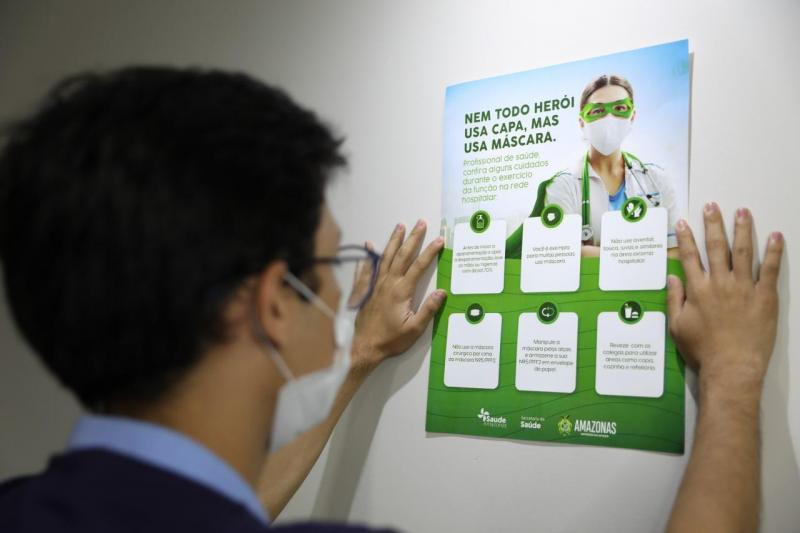 SES-AM divulga campanha de sensibilização para uso de EPIs entre profissionais de saúde