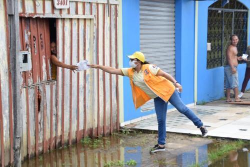 Prefeitura de Parintins realiza ações de saúde em áreas alagadas
