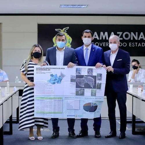 Prefeita de Nhamundá assina termo de Cooperação Técnica entre Prefeitura e Cosama