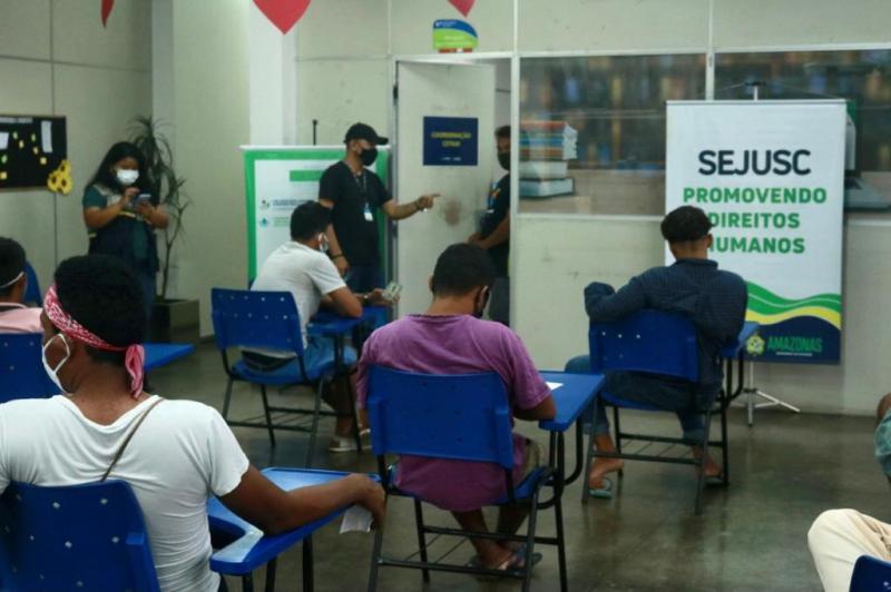Sejusc realiza cadastro de acolhidos do Abrigo Emergencial Temporário no CadÚnico