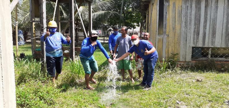 SAAE restabelece o abastecimento de água de mais de 40 famílias da comunidade São João do Jacu