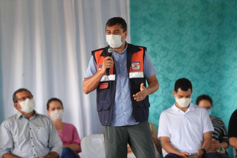 Governador Wilson Lima anuncia medidas para reforçar assistência em saúde e educação em Codajás