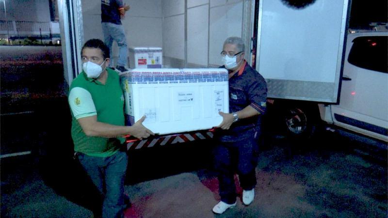 Amazonas recebe mais 14.700 doses de vacina contra a Covid-19