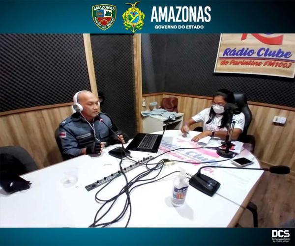 Parceria entre PMAM e Semed Parintins garante espaço ao Proerd nas Ondas do Rádio