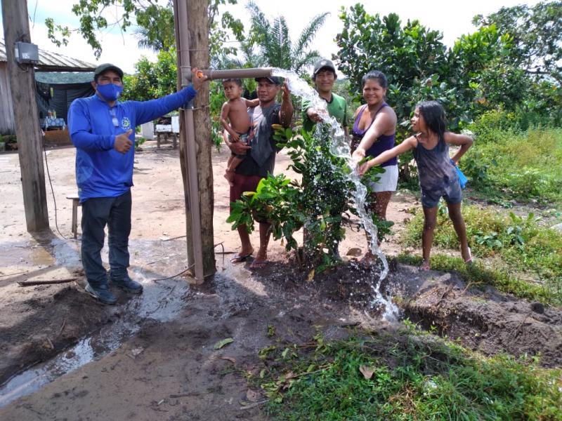 Famílias do assentamento Nova Vida são beneficiadas com água potável