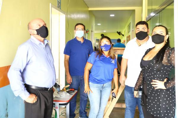 Vereadores acompanham recuperação da estrutura da Escola Santa Luzia