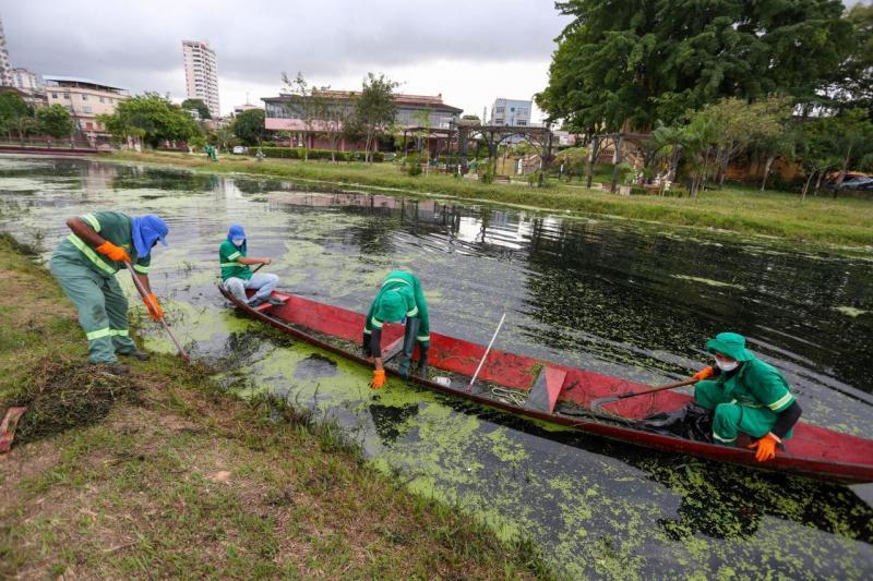 Projeto 'Praças Limpas' realiza manutenção no Parque Jefferson Péres