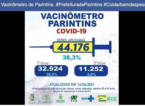 Parintins aplicou 44.176 de vacinas contra COVID-19, dados da FVS de 67 mil estão errados, informa Vigilância em Saúde local
