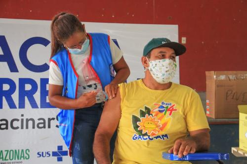 Mais de 4 mil pessoas devem ser vacinadas contra a Covid-19 esta semana em Barreirinha