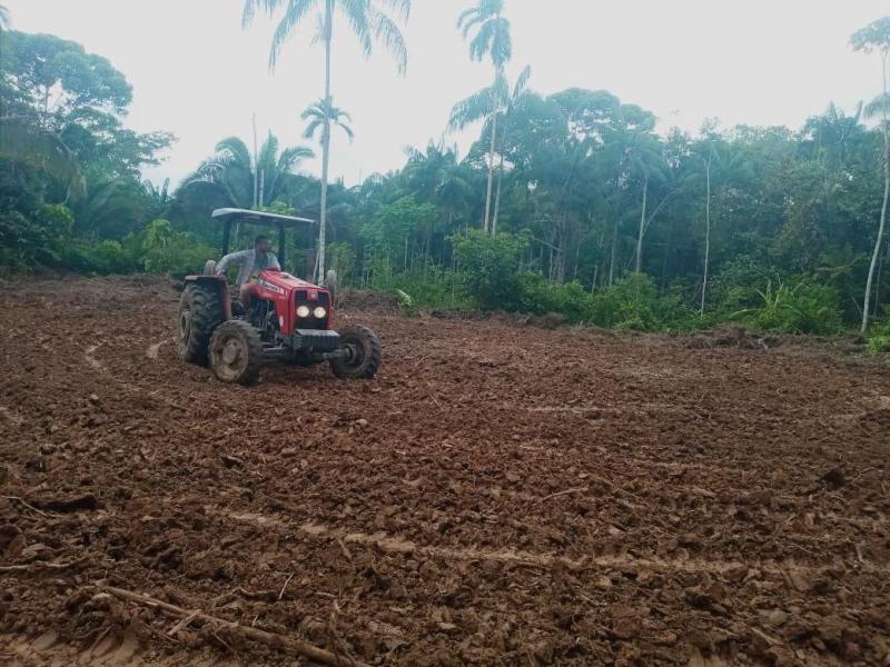 Governo do Amazonas dá continuidade a trabalhos de mecanização em Benjamin Constant