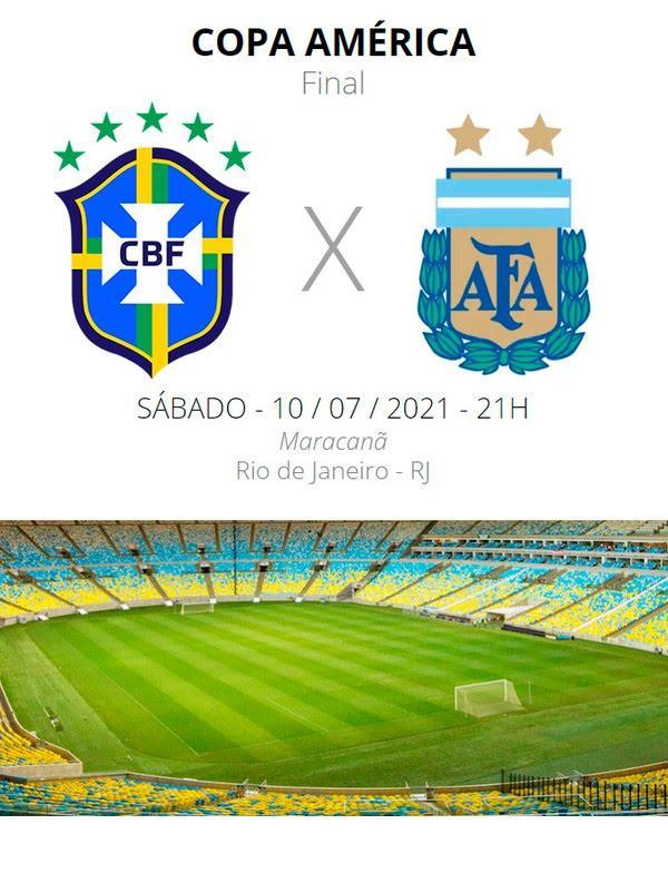 Brasil x Argentina: escalações, desfalques e arbitragem da final da Copa América