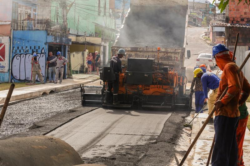Prosamim: Governo do Estado conclui obra em trecho da avenida Tarumã