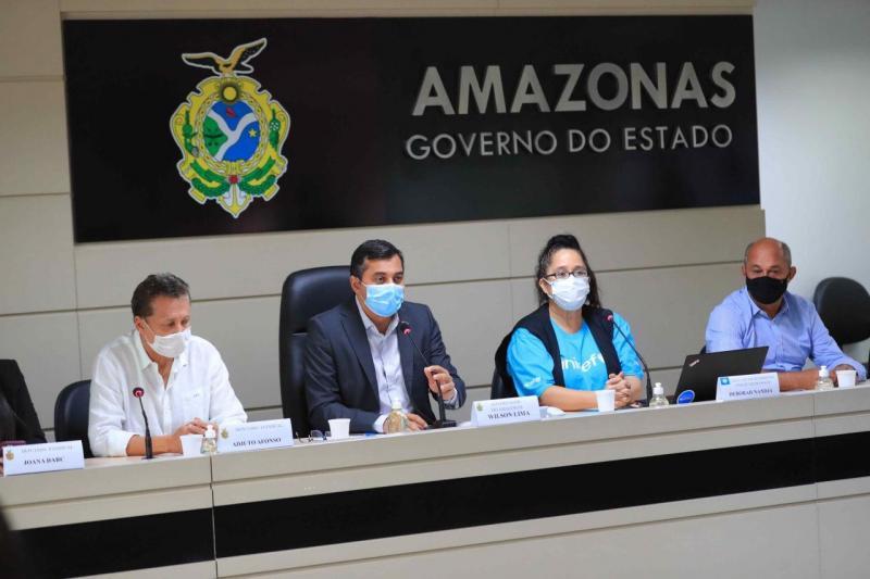 Wilson Lima assina protocolo com Unicef para fortalecer políticas públicas em saúde, assistência social e educação