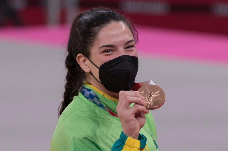 Mayra Aguiar conquista a terceira medalha olímpica da carreira nos Jogos Olímpicos Tóquio 2020