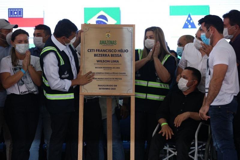 Wilson Lima inaugura Ceti em Tefé, a sétima unidade de ensino integral entregue na atual gestão