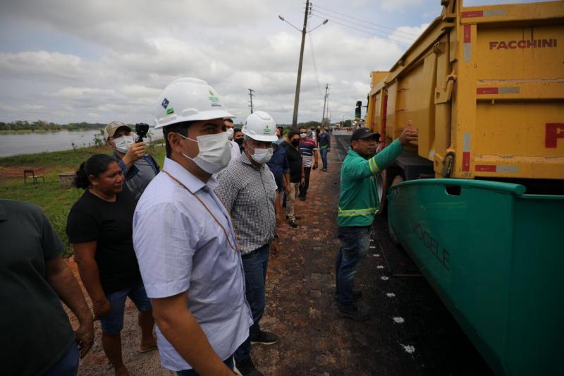 Governador Wilson Lima vistoria pavimentação de ramais em Autazes e Careiro da Castanho