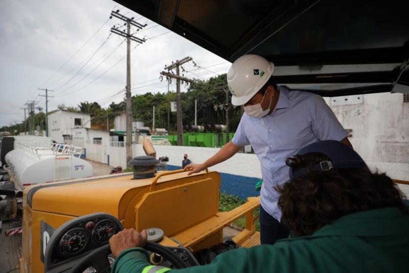 Wilson Lima dá início à nova frente de obras da modernização da AM-010 em Rio Preto da Eva