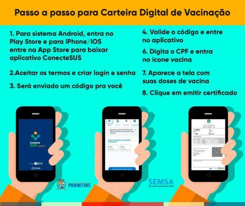 Prefeitura de Parintins orienta para acesso a Carteira Digital de Vacinação