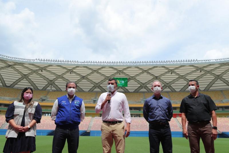Wilson Lima lança campanha 'Vacina Premiada', com sorteio de três mil ingressos para o jogo Brasil X Uruguai