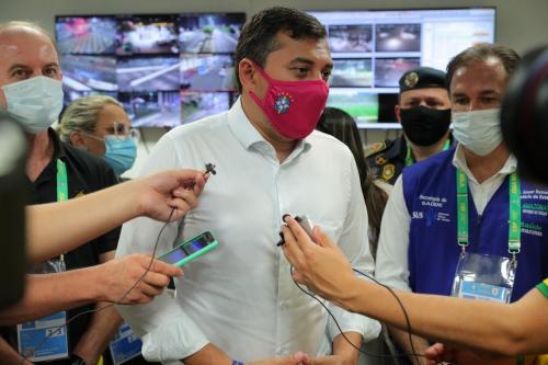 Wilson Lima destaca que presença de torcedores no jogo Brasil x Uruguai reflete sucesso da vacinação contra a Covid-19