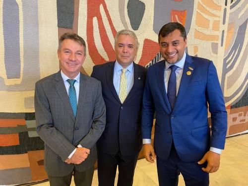 Presidente da Colômbia convida governador Wilson Lima para reunião em Letícia, na região de fronteira