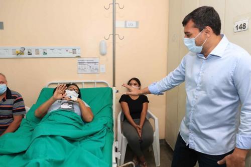 Wilson Lima acompanha intensificação de cirurgias de vesícula na Fundação Hospital Adriano Jorge